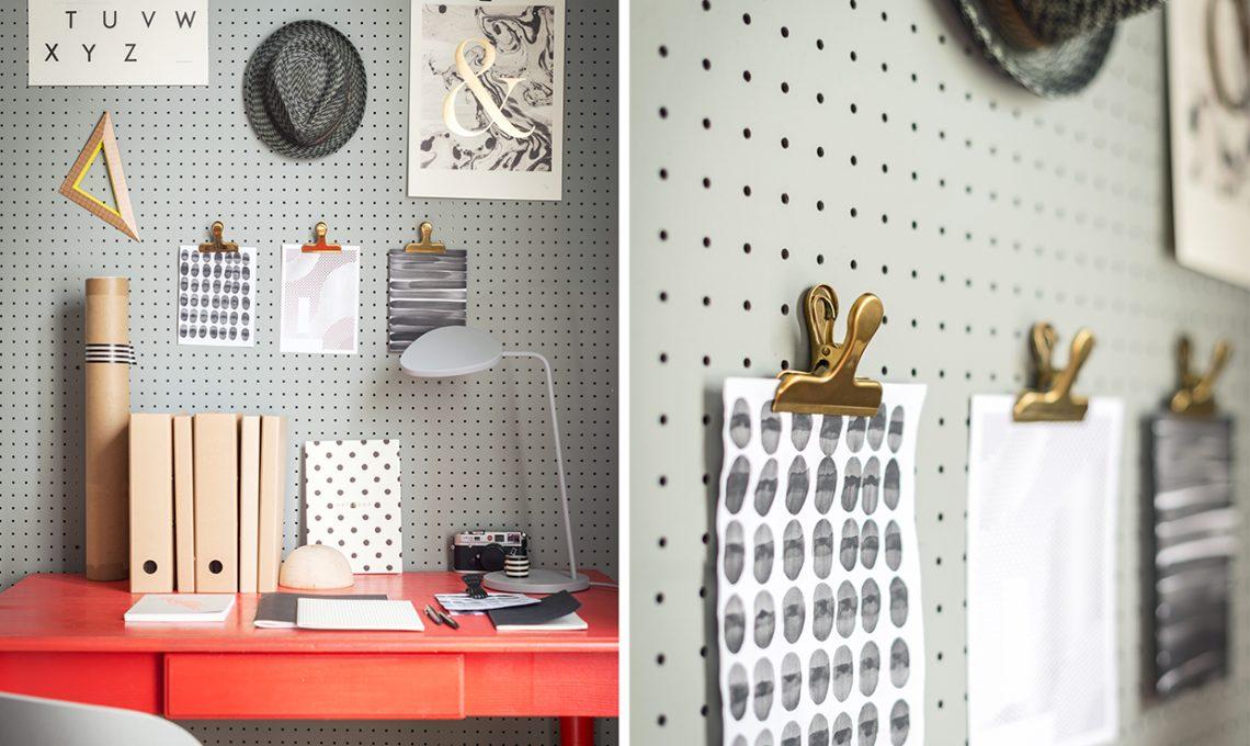 Crea la tua parete attrezzata con il pegboard casafacile - Parete attrezzata fai da te ...