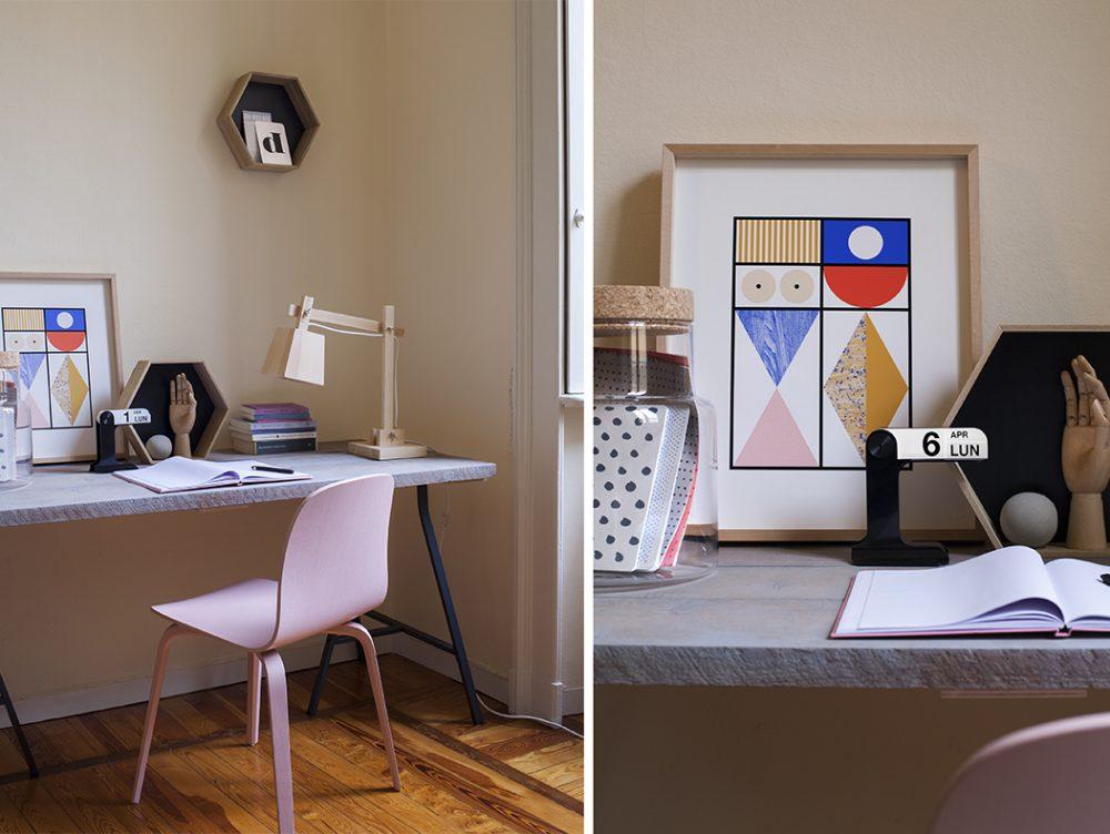 Favorito Angolo studio fai-da-te: scrivania e parete décor - CASAfacile MJ55
