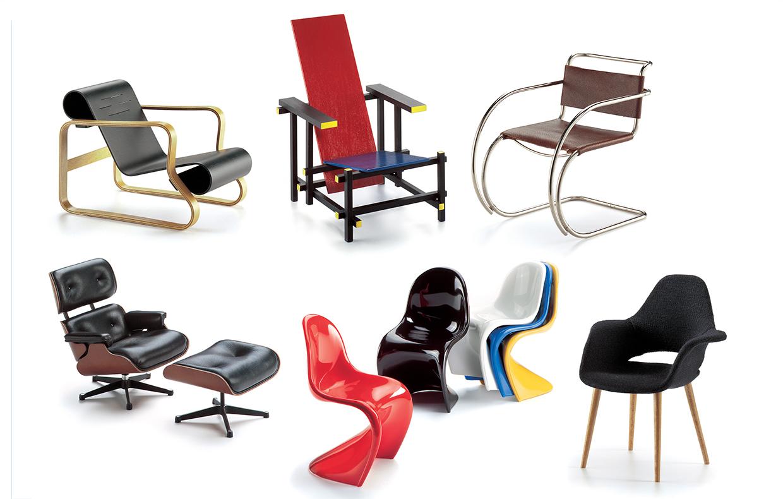 100 sedie icone di design in miniatura casafacile - Sedie di design ...