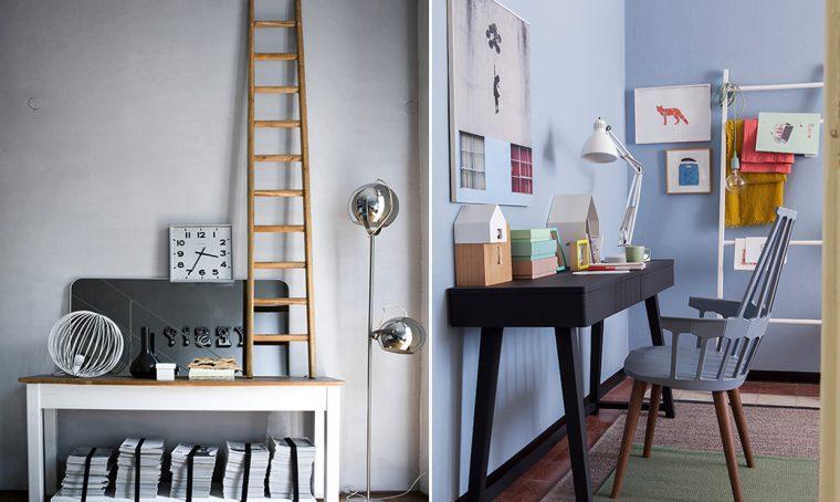 15 idee per arredare con una scala a pioli