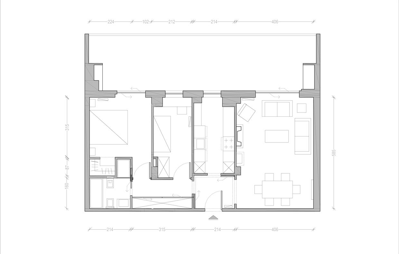 Una camera e una cabina armadio in pi sposta il bagno for Come costruire una cabina di pietra