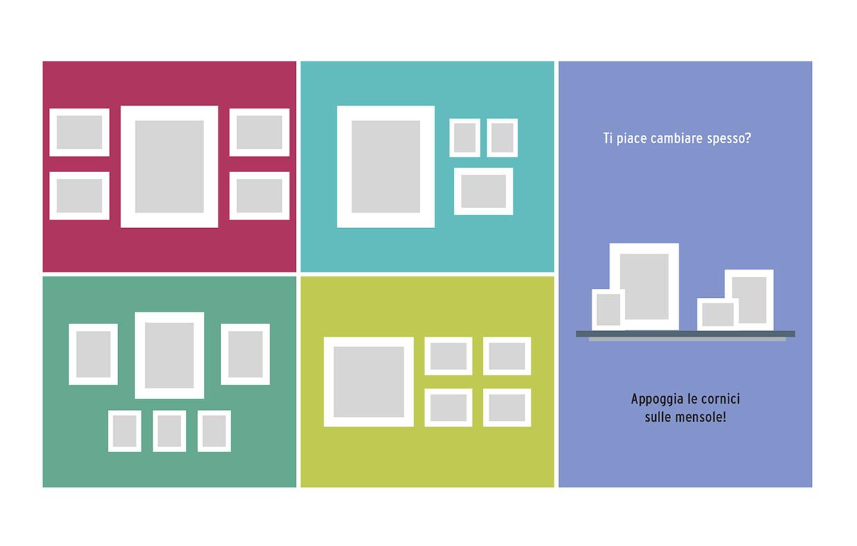 Pareti Con Cornici Diverse come appendere i quadri: 10 idee da copiare - casafacile