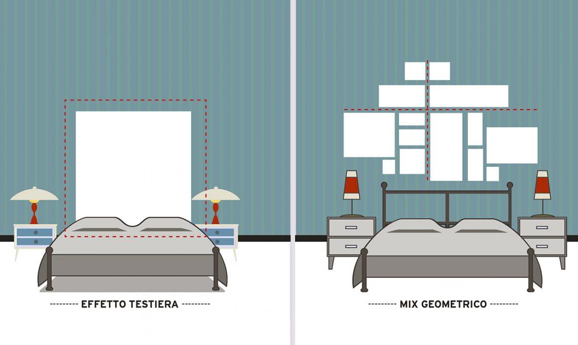 Come appendere i quadri 10 idee da copiare casafacile for Mensola sopra letto