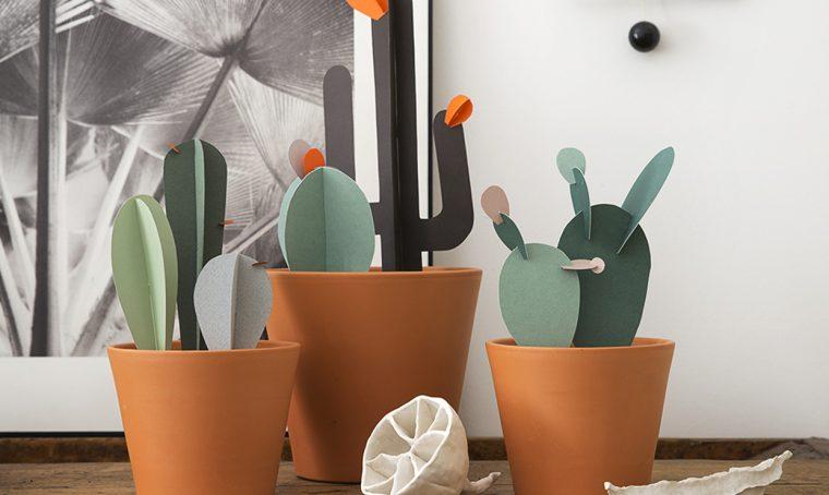 Come realizzare i cactus di carta