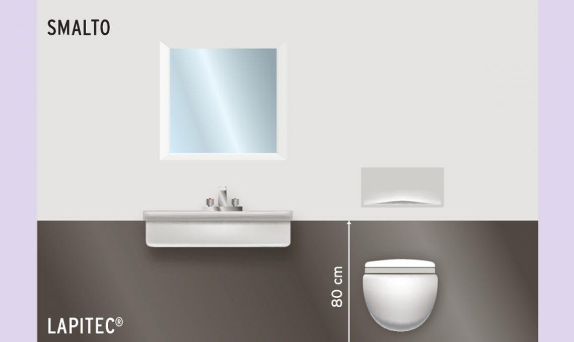 Cosa mettere sulle pareti del bagno casafacile - Mettere piastrelle bagno ...
