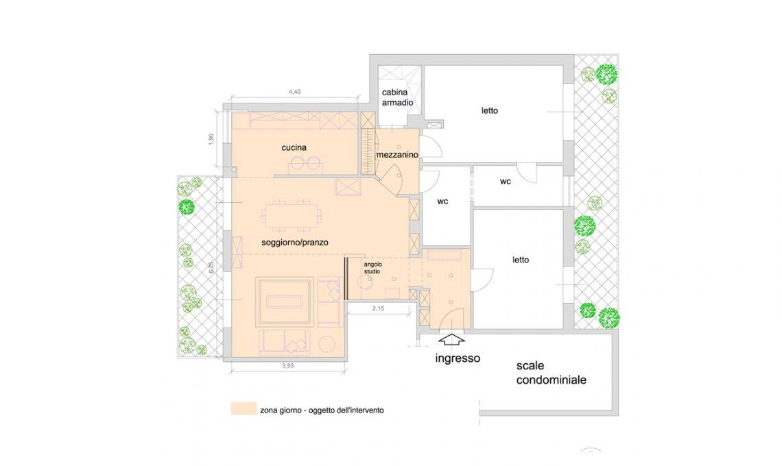 una zona giorno più funzionale con angolo studio e mini-biblioteca ... - Creare Una Zona Studio In Soggiorno 2