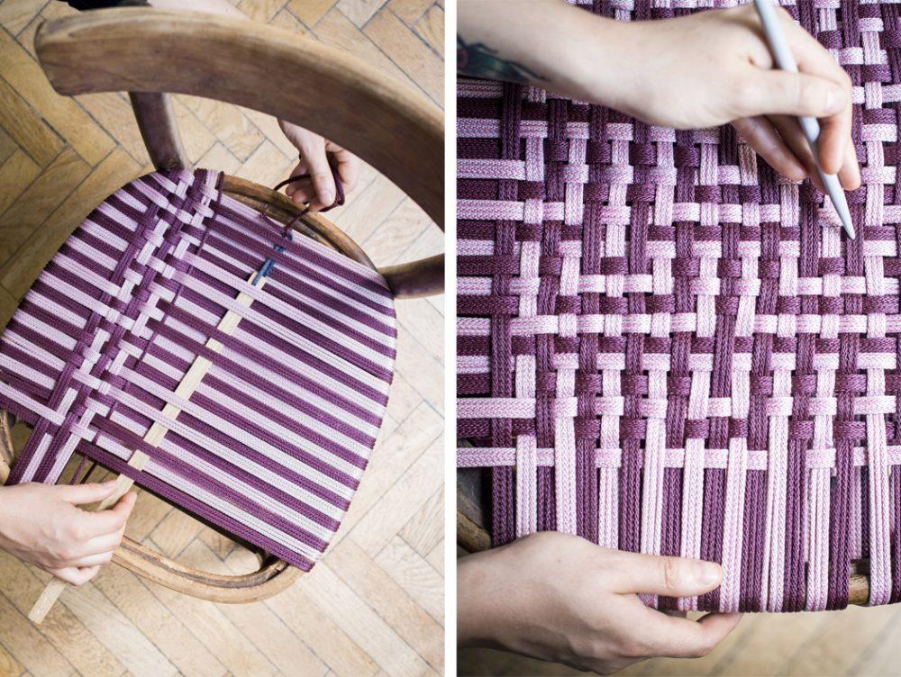 Tessitura fai-da-te: crea l'intreccio per la sedia