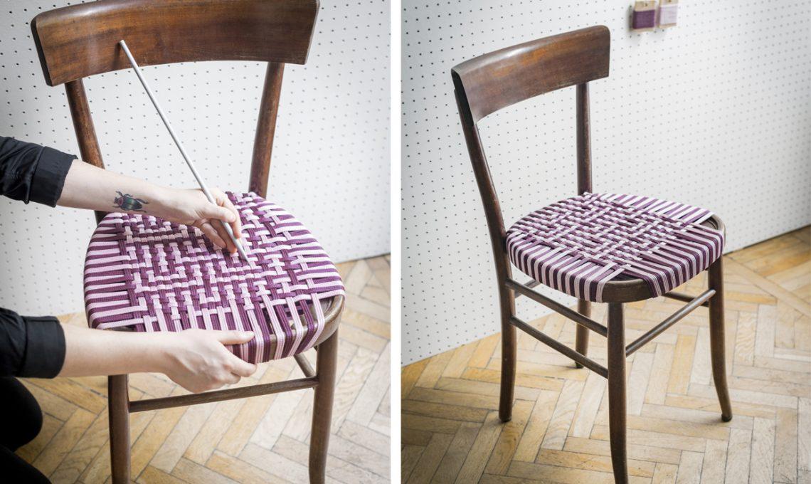 Tessitura fai da te crea l 39 intreccio per la sedia casafacile - Fermatovaglia per tavoli di plastica ...
