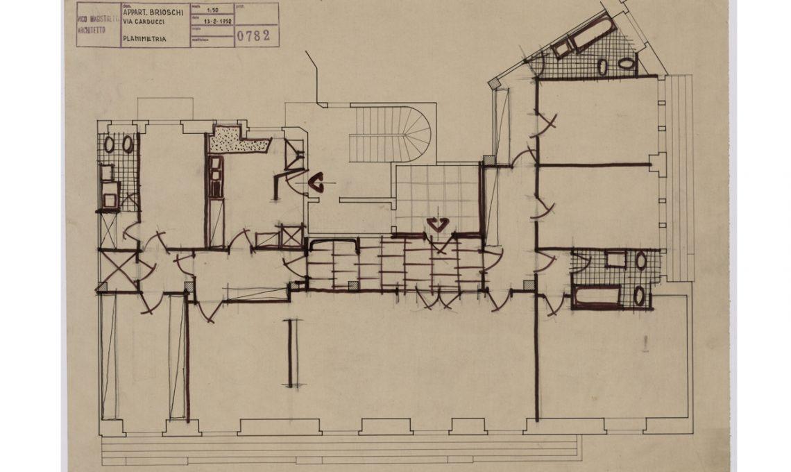 Interni milanesi disegni e progetti di vico magistretti for Interni e progetti