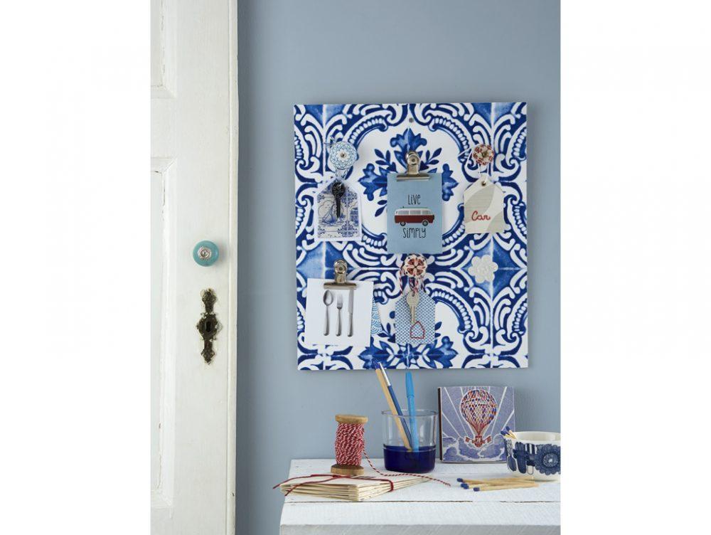 Fai-da-te: pannello per le chiavi effetto azulejos