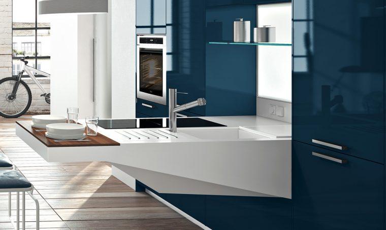 Piano di lavoro in cucina: la resina Solid Surface