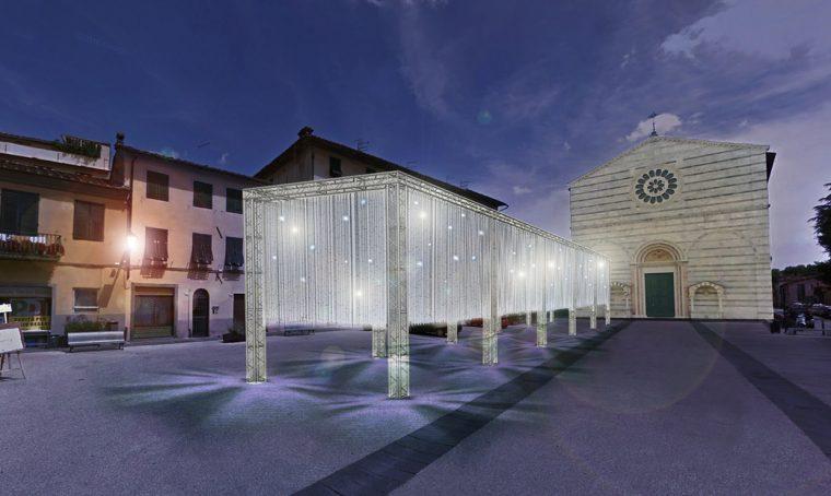 Una grande nuvola di luci accende Lucca