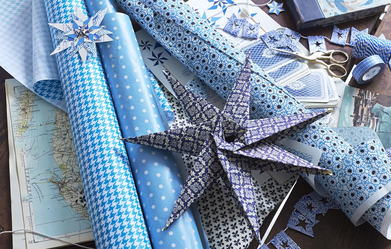 Decorazioni di natale stelle blu origami casafacile - Decorazioni stelle di natale ...