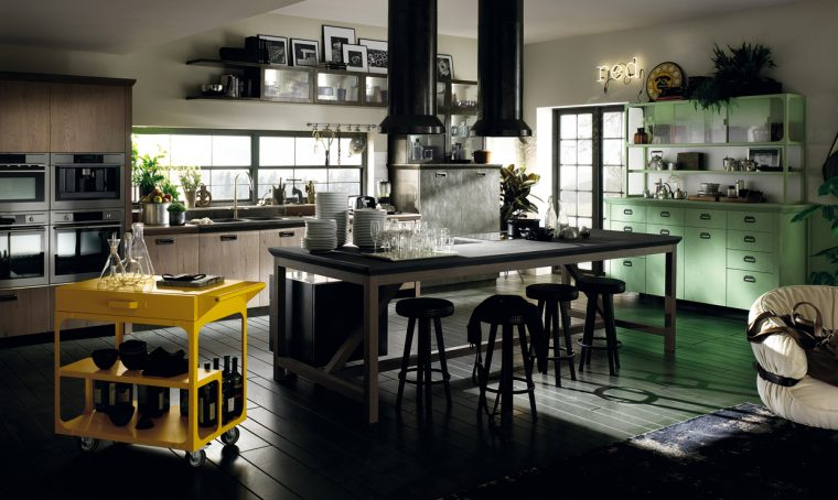La cucina a vista? È social!