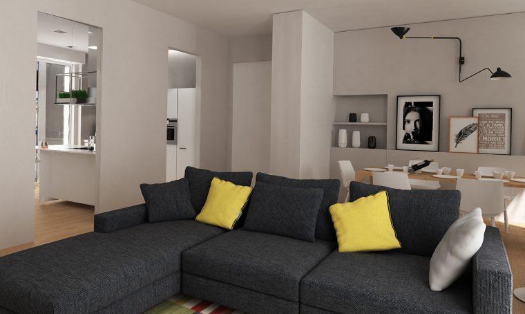 Cabina e bagno in camera ridimensionando la cucina