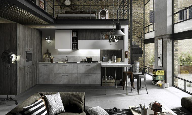 Una cucina open space da vera chef