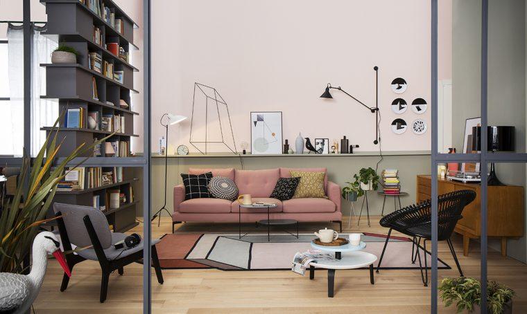 Il soggiorno si fa in due con l'angolo studio