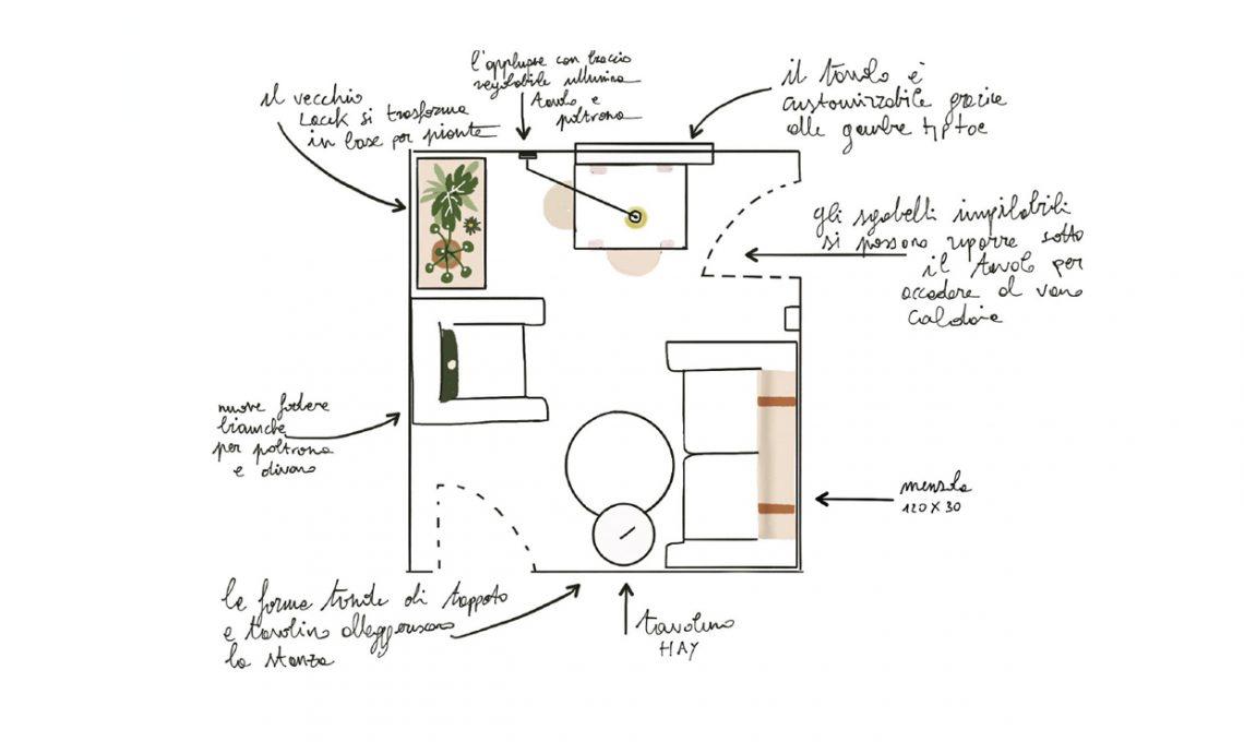 Come arredare un piccolo soggiorno con zona pranzo - CasaFacile