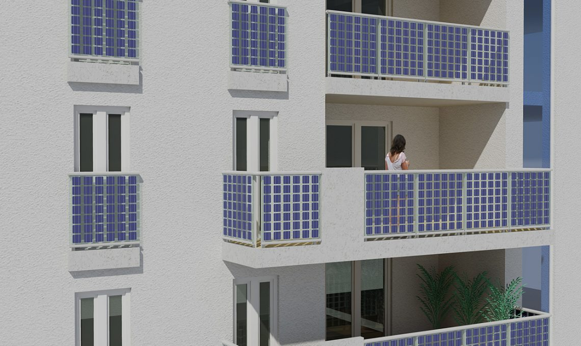 Vetro fotovoltaico produci corrente con il sole sul tuo balcone casafacile - Finestre con pannelli solari ...