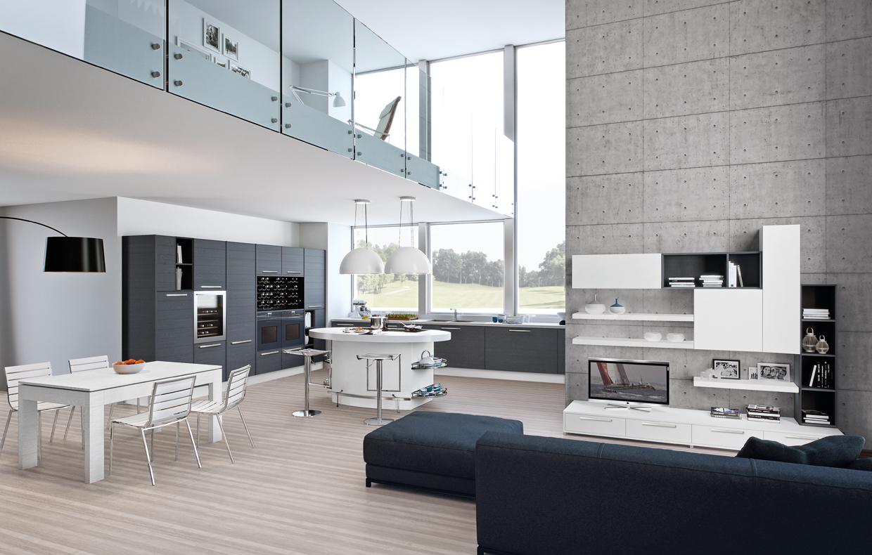 La cucina a vista da vivere a 360 casafacile - Arredare cucina a vista ...