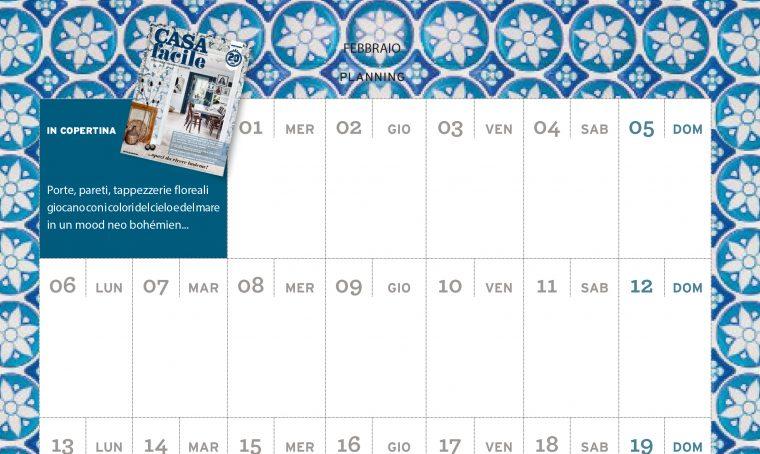 CasaFacile di febbraio ti regala il planning del mese