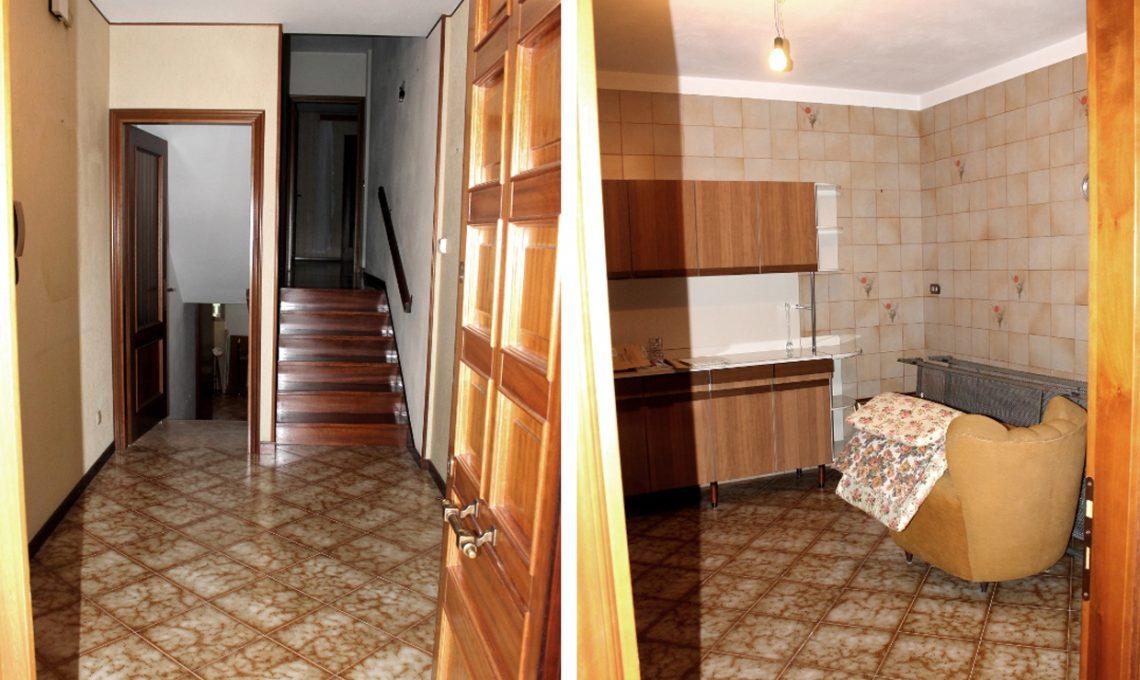 prima e dopo restyling totale di una casa anni 39 80