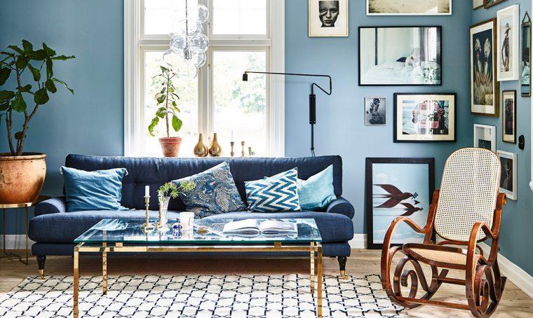 Sfumature di blu e arredi vintage