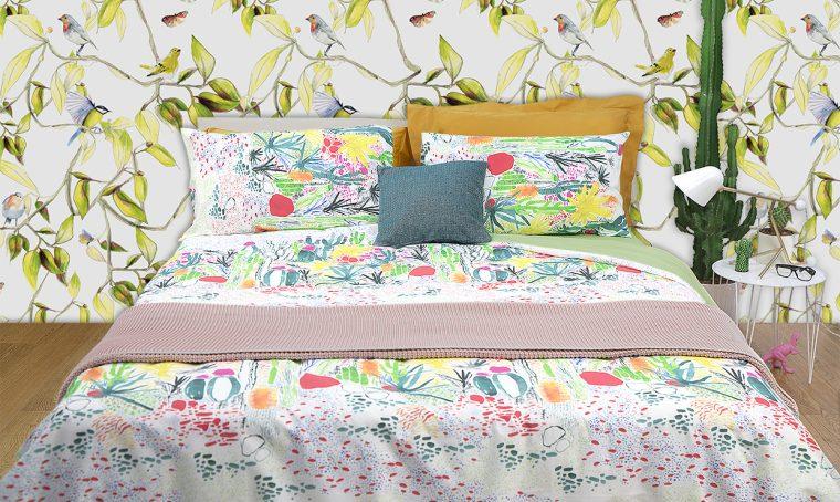 Vesti tutto il letto in vivace stile jungle