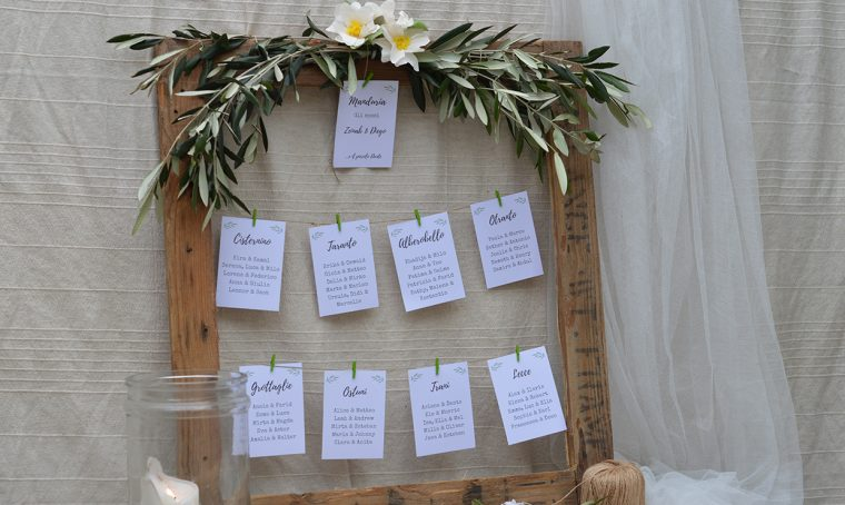 Decorazioni in carta per bottoniere e tableau de mariage