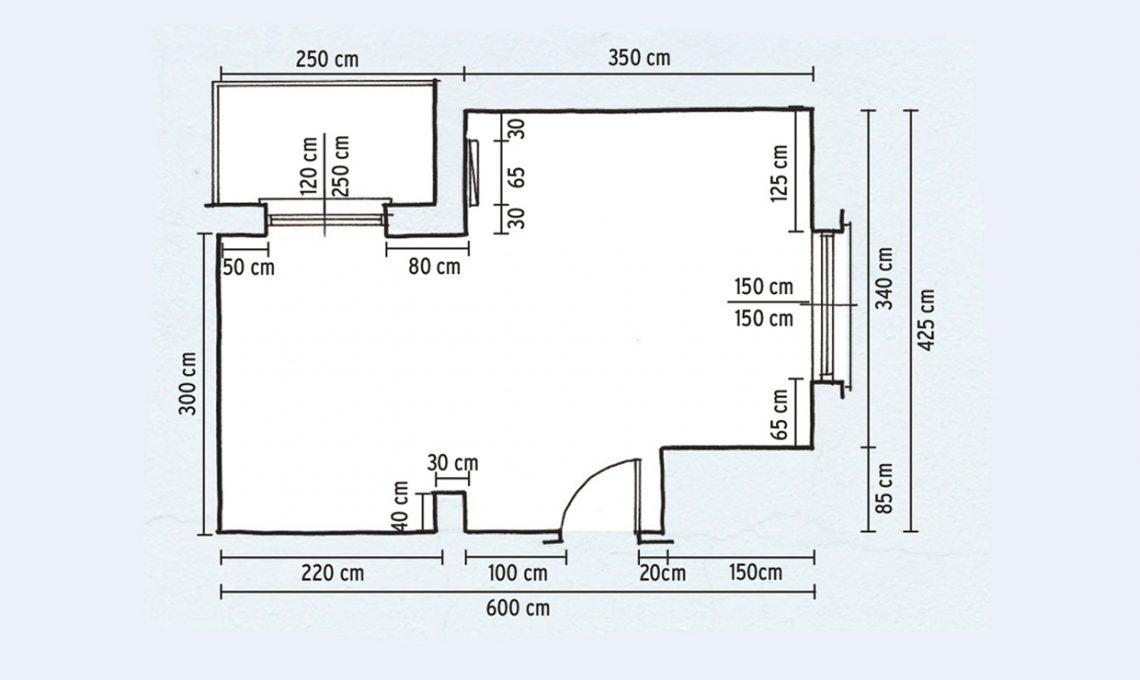 Come prendere le misure e progettare cucina e bagno for Disegnare una piantina di casa