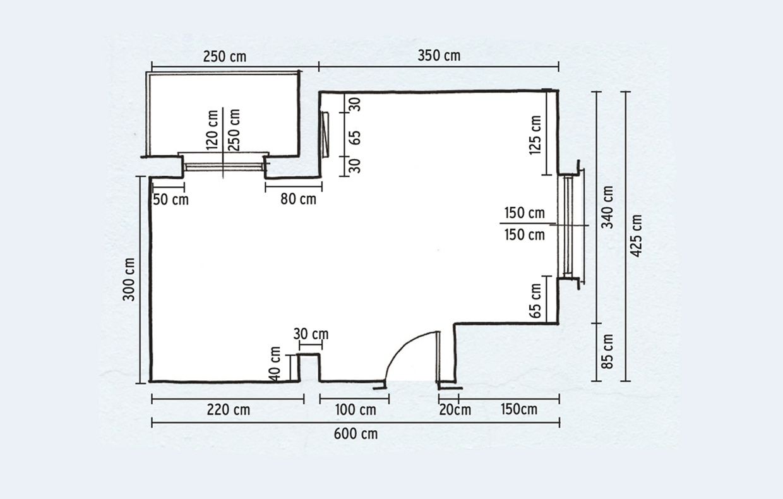 Planimetria Casa Con Misure come prendere le misure e progettare cucina e bagno - casafacile