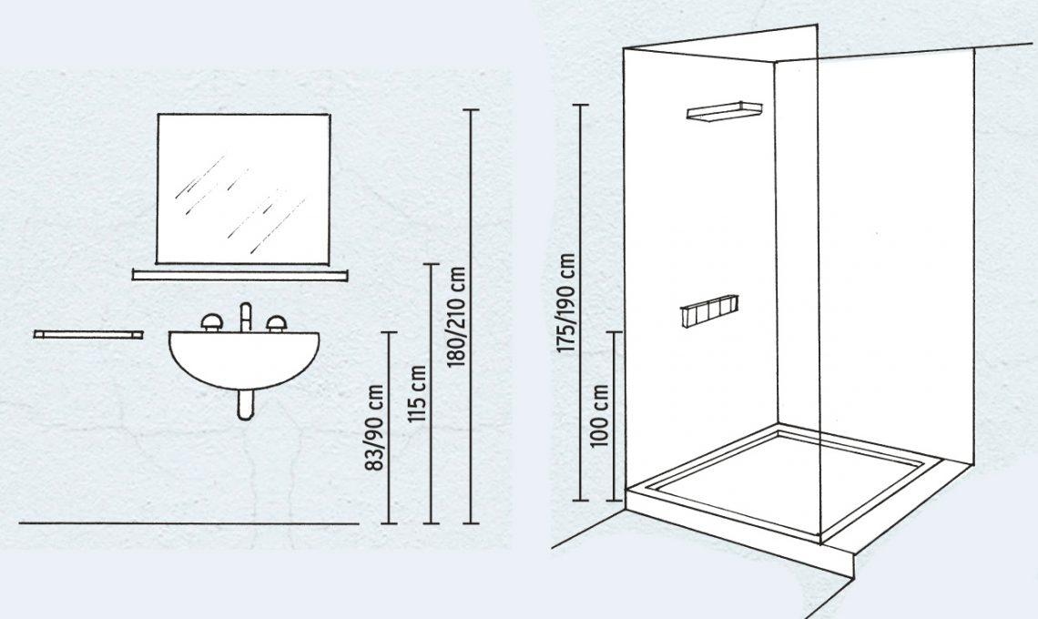Come prendere le misure e progettare cucina e bagno for Altezza prese elettriche
