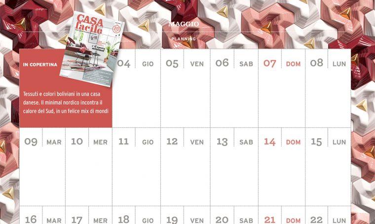 CasaFacile di maggio ti regala il planning del mese
