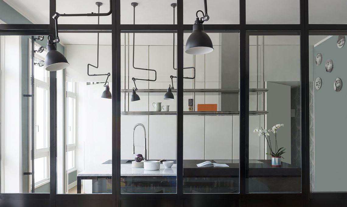 Parete vetrata: la cucina a vista diventa protagonista ...