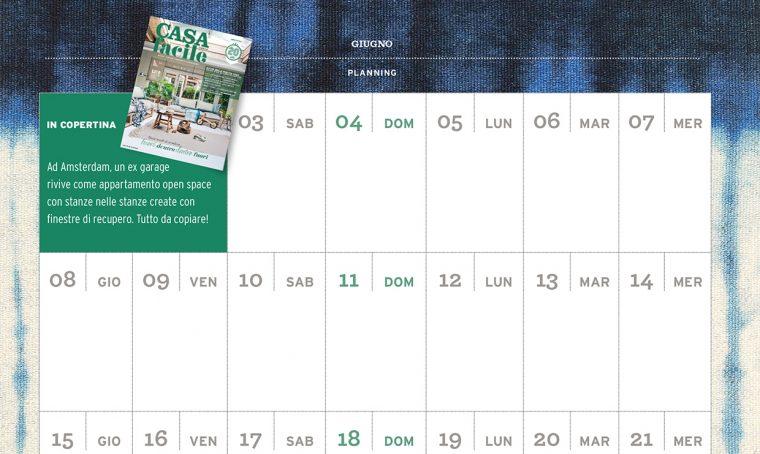 CasaFacile di giugno ti regala il planning del mese