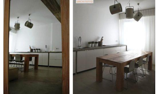 Bilocale in stile industrial chic con pavimento in resina