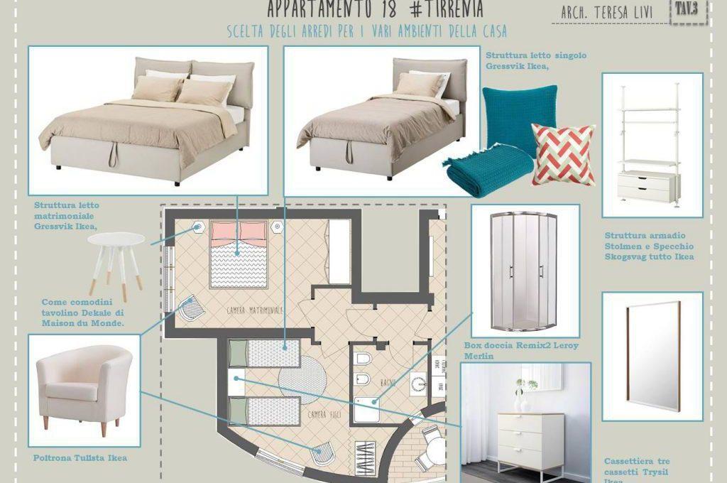 Progetto d 39 arredo per appartamento al mare casafacile for Progetto arredo