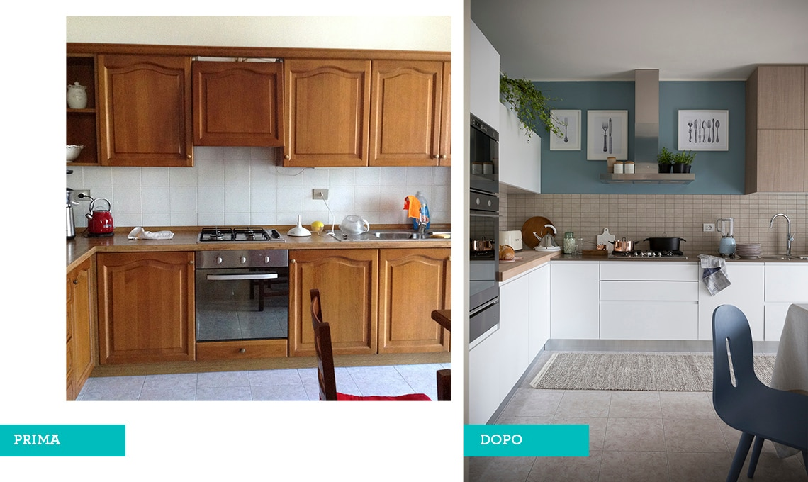 Cheap open zoom cucina relooking with case prima e dopo - Pulizia casa dopo lavori ...