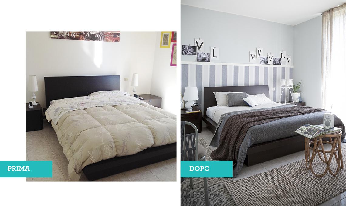 il prima&dopo della camera da letto