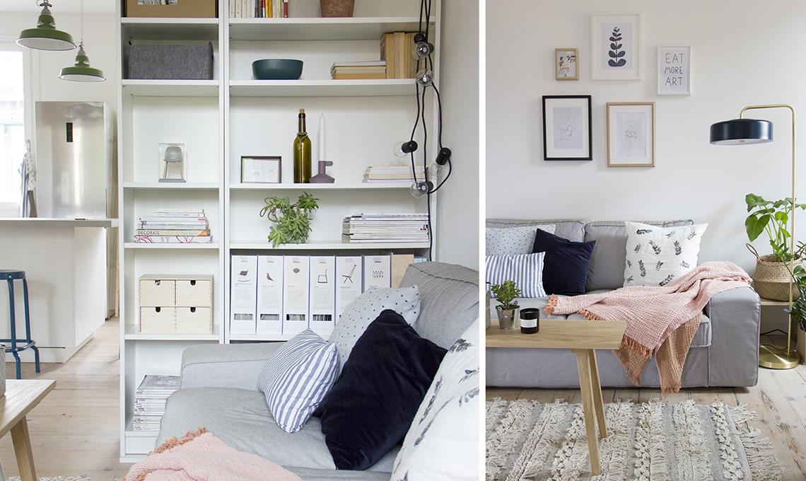 soggiorno con libreria