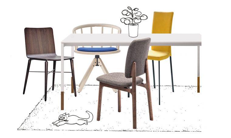 Come abbinare le sedie al tavolo moderno