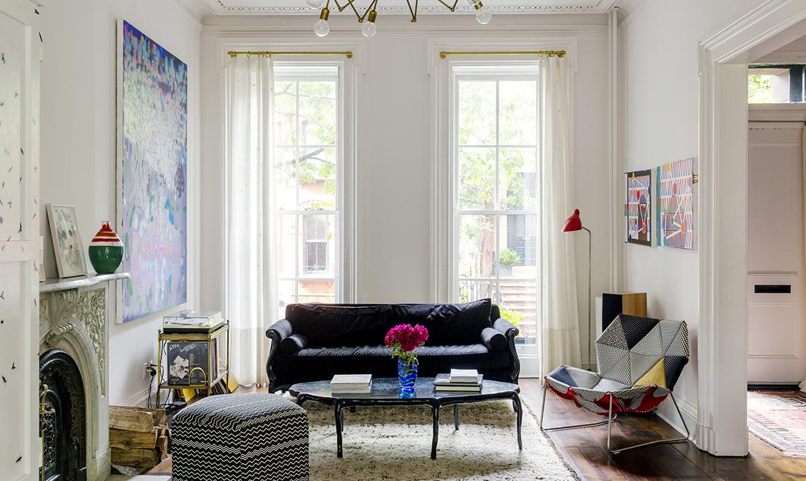 arredare soggiorno con arredi vintage