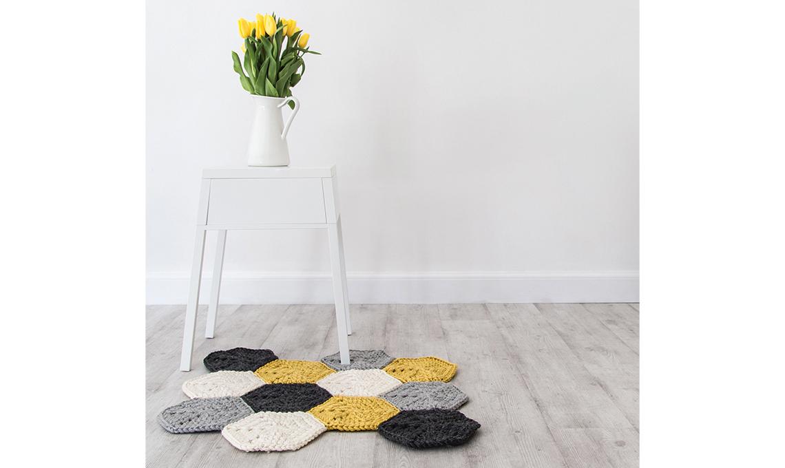 Tappeto Ovale Alluncinetto : Il tappeto a esagoni alluncinetto casafacile