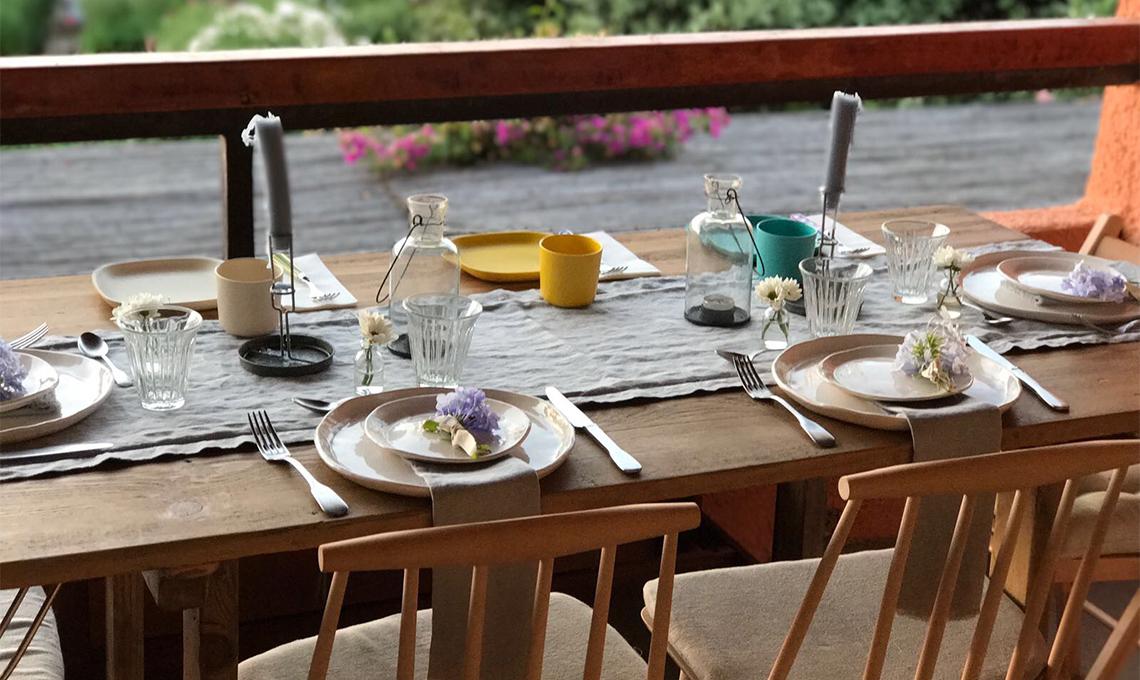 Spunti per arredare una casa al mare con cucina a vista for Piani casa costruiti per una vista