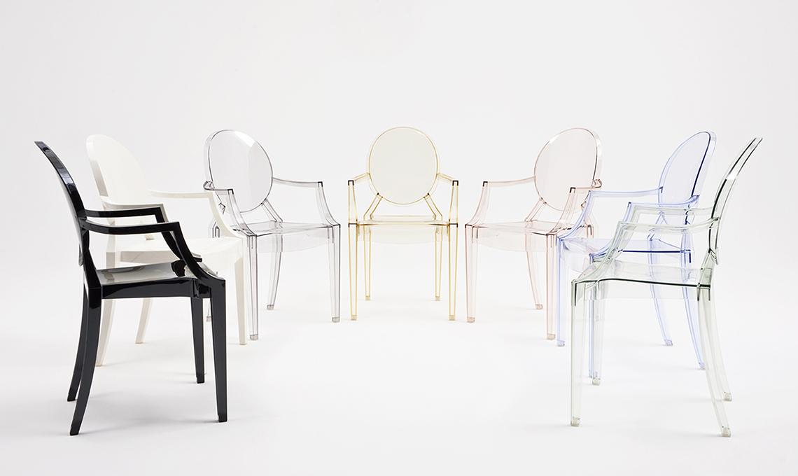 sedia louis ghost di kartell