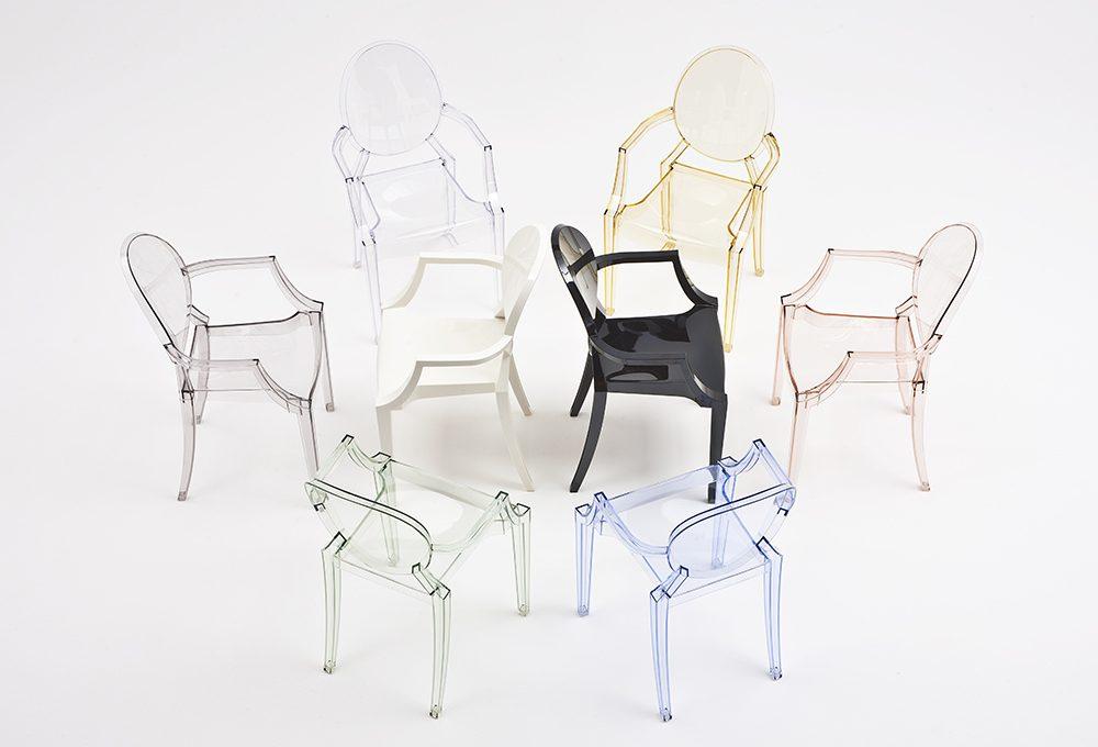 La sedia Kartell 'Louis Ghost' di Philippe Starck