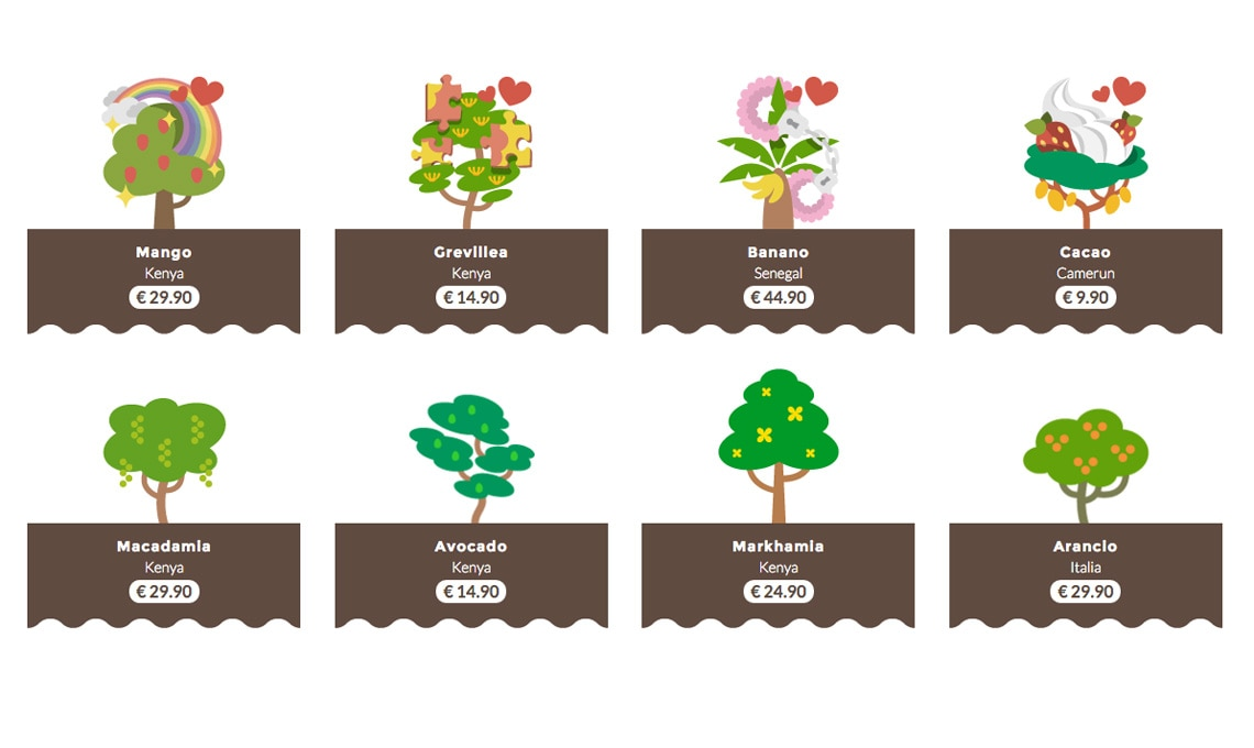 Scegli tra tante piante esotiche / treedom.net