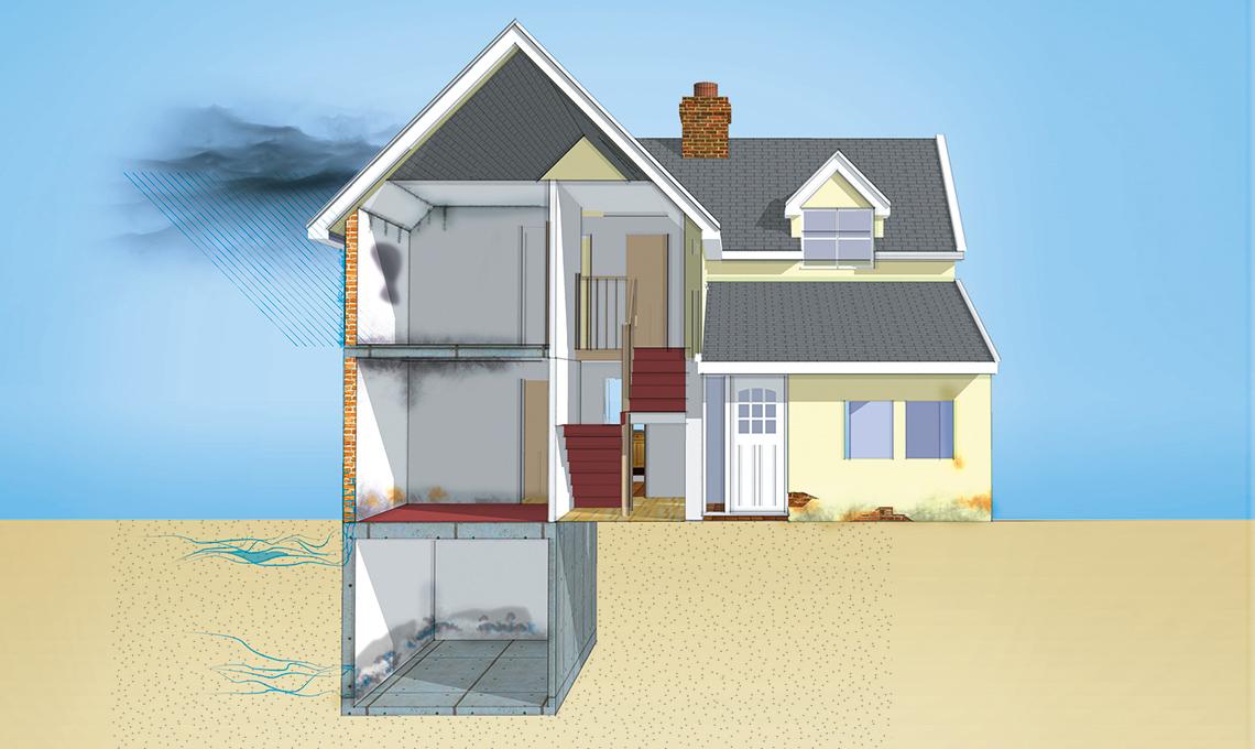 Pareti umide come risolvere - Come deumidificare casa ...