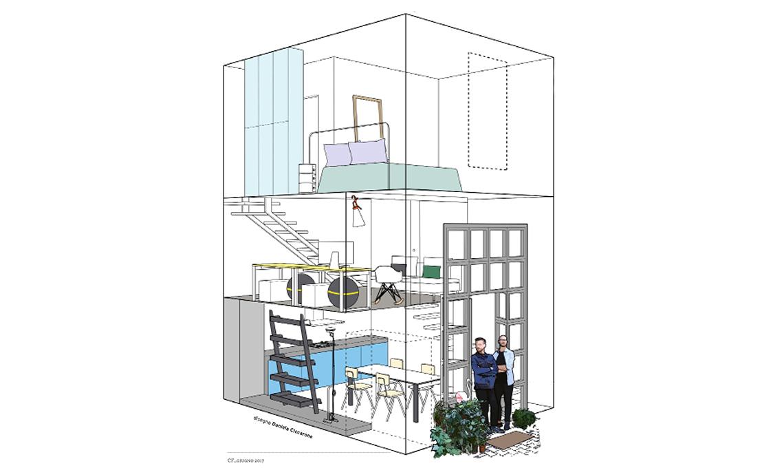 loft su tre livelli