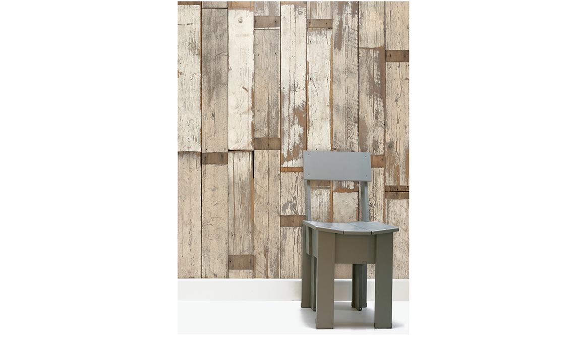 carta da parati effetto legno